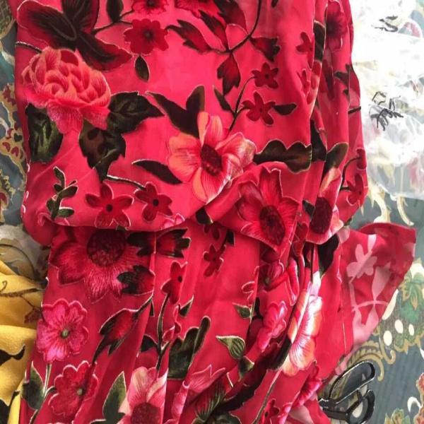 Горячая Распродажа шелковая бархатная ткань/ткань для выгорания/шелковая бархатная ткань