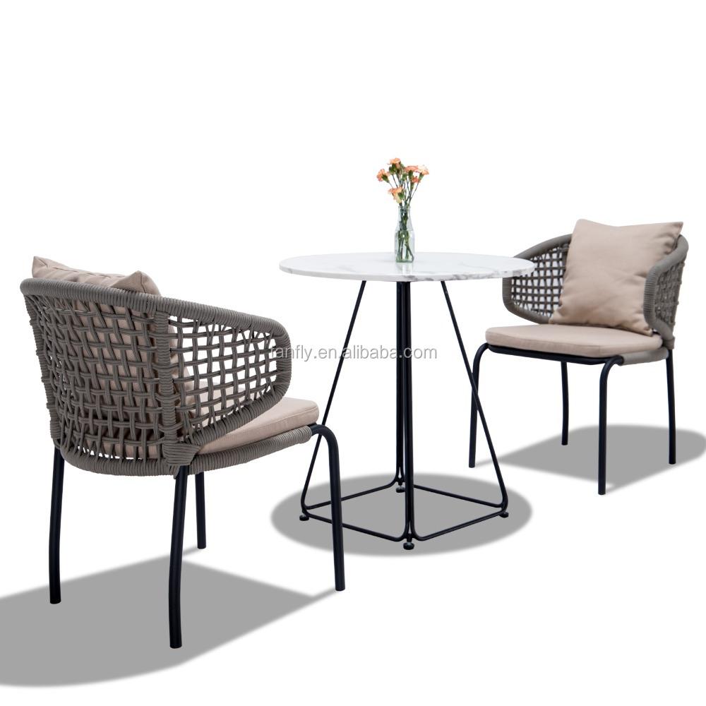 Лидер продаж, уличная садовая мебель для бистро, ресторана, веревочная мебель для патио, стул