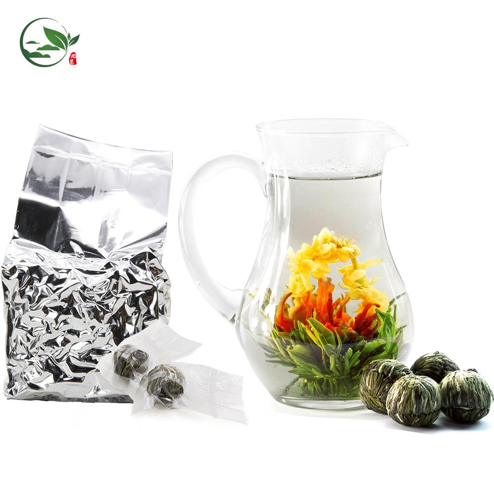 Chinese Dropshipping Bai He Hua Lang Lily's Fairy Basket White Tea Best Mini Organic Flavored Blooming Flower Tea Ball Balls - 4uTea   4uTea.com