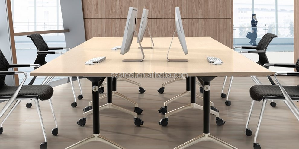 Meeting Room Furniture Folding Table for Office or School can Match Large Size Desk Top