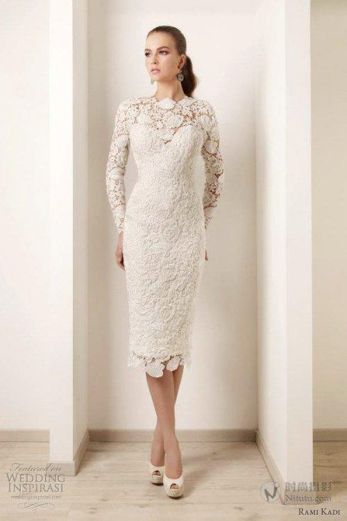 Designer Tea Length. Aliexpress com   Buy Simple Short Bridal Dresses  Strapless. Aliexpress com   Buy. 2015 New Arrival Elegant High Neck Long  Sleeve Ivory ... 6dd4e873bf6c