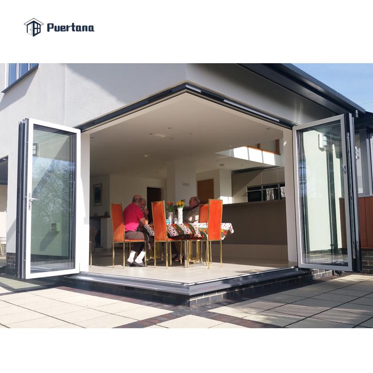 Американский стандарт 90 градусов Угловые двухскладные двери патио для горного дома/Кондо