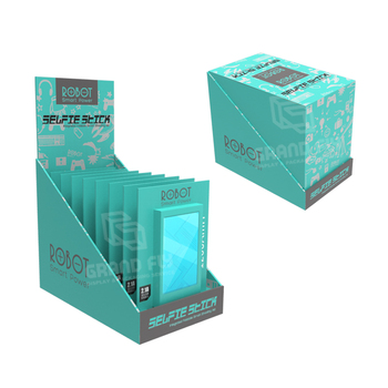 Custom Paper PDQ Retail Tray Folding Cardboard Counter Display Boxes for Power Bank