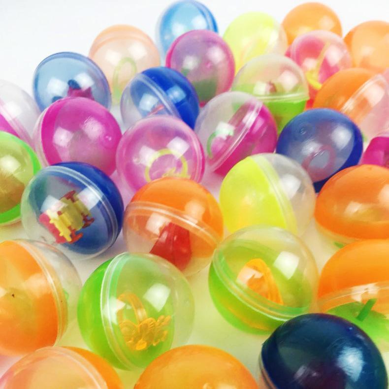 Оптовая продажа дешевых пустых пластиковых мини-капсул 32 мм для яиц, игрушек, конфет, торговый автомат, игрушки для торгового автомата