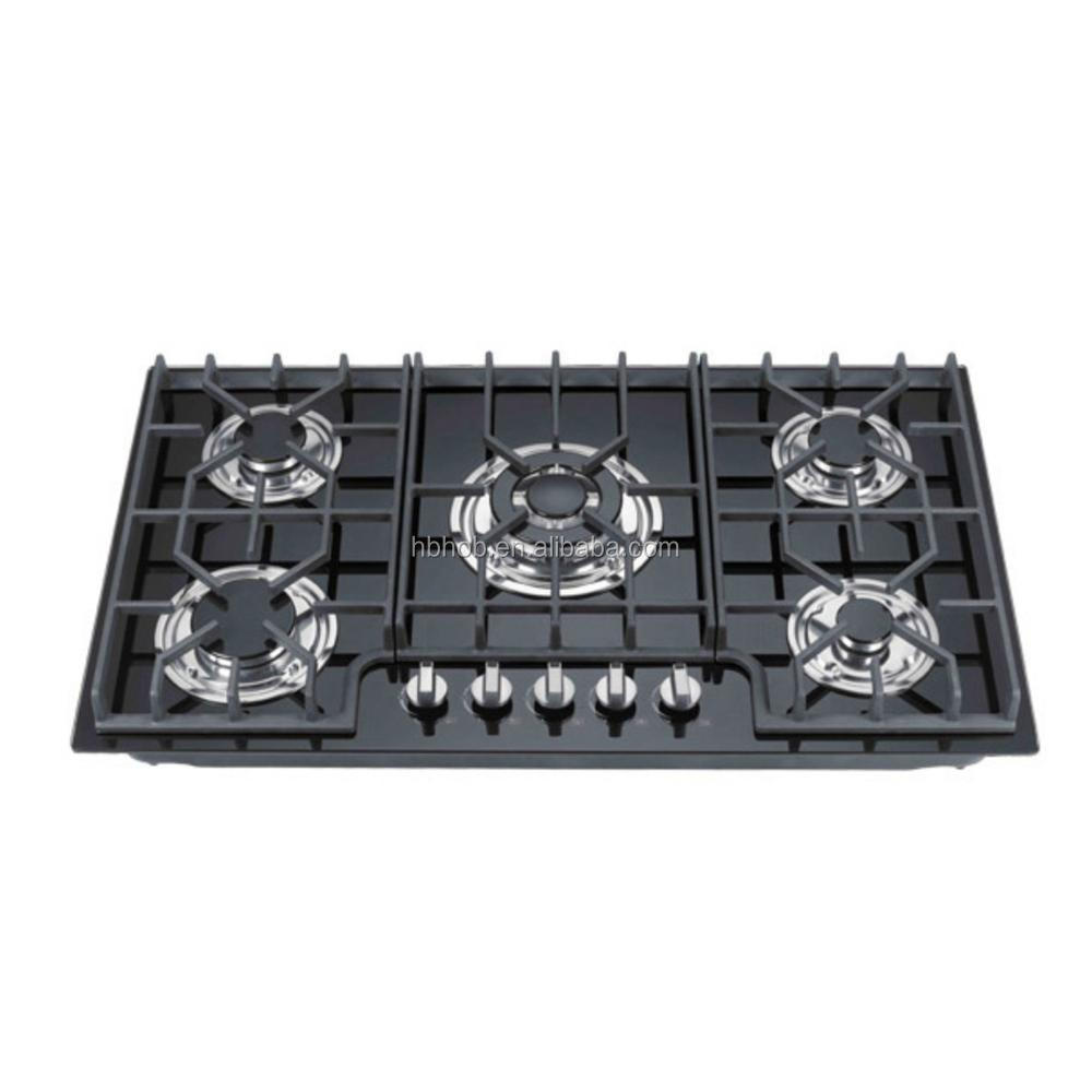 Perfomance Gas Hob Heavy Cast Iron Design with Luxury CB Ce ROHS SASO Ceramic / Glass Gas Cooktops Built-in