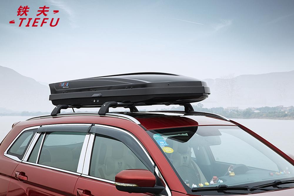 Автомобильные аксессуары, глянцевый черный Автомобильный верхний ящик на крышу, автомобильный черный ящик, стойка для переноски, дорожный ящик для хранения