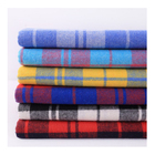 men's fashion shirts fabric 21s cotton check fabric breathable Comfortable yarn dyed fabric with low price