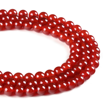 Natural Stone Beads Red Agate Round Loose Onyx 4/6/8/10/12/14mm Carnelian Beads For Jewelry Making