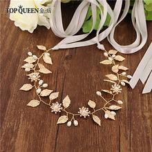 TOPQUEEN SH110 свадебный пояс с золотыми листьями женский пояс с поясом для выпускного вечера золотые ремни для женщин украшенные ремни для плать...(Китай)