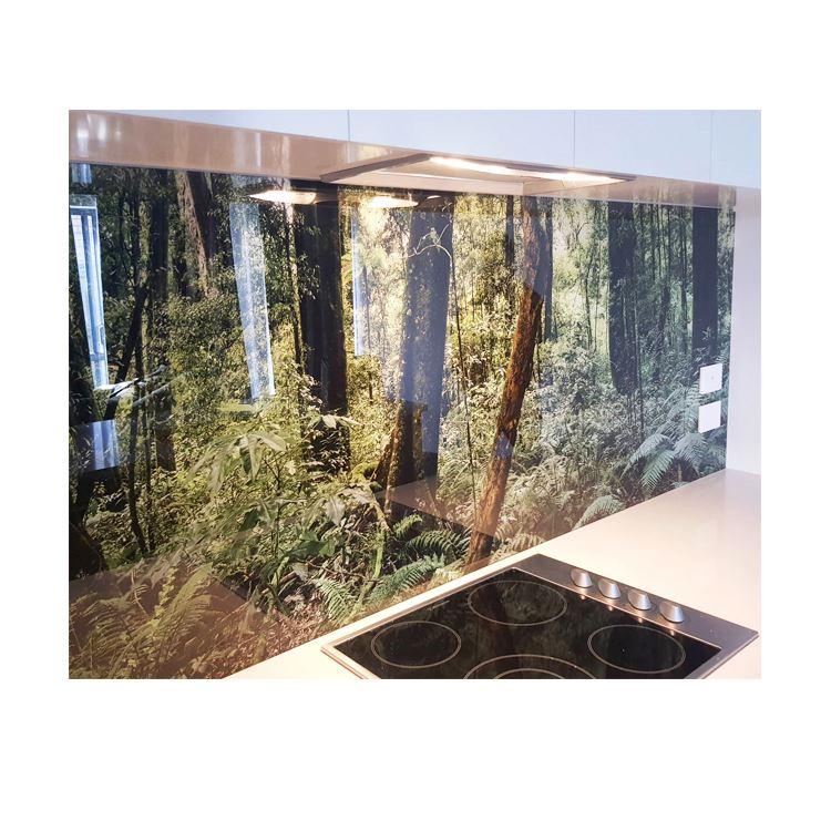 digital printing tempered splashback glass