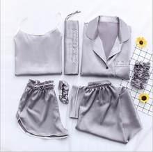 Женская пижама Fdfklak, пижамный комплект из 7 предметов, Пижама для сна на весну и лето, Q1047(Китай)