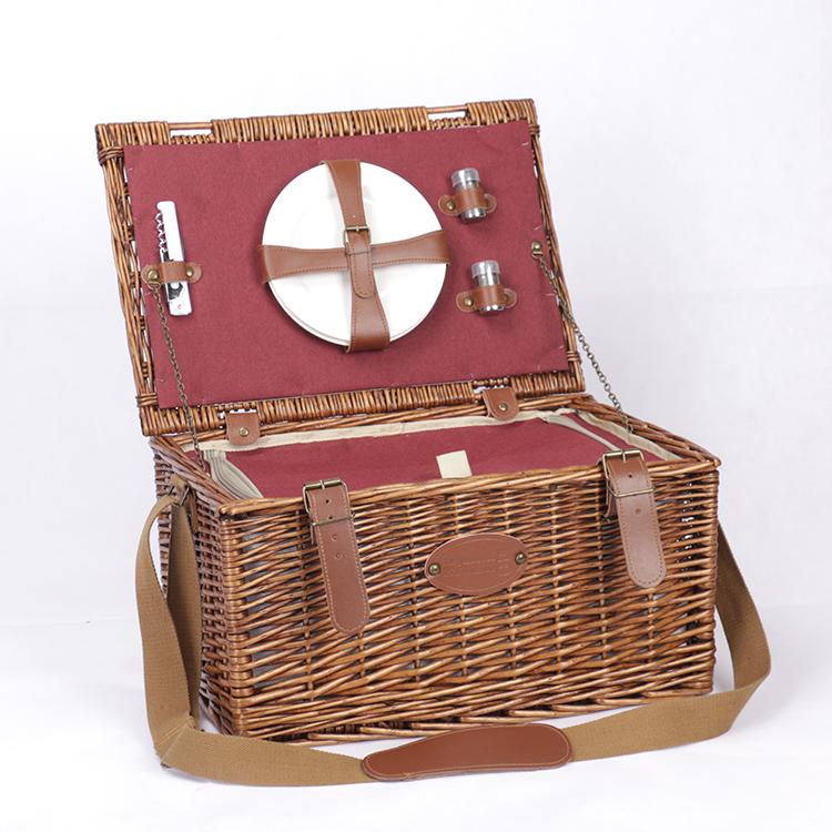 Горячая Распродажа, Высококачественная Изолированная Корзина для пикника из ротанга на заказ
