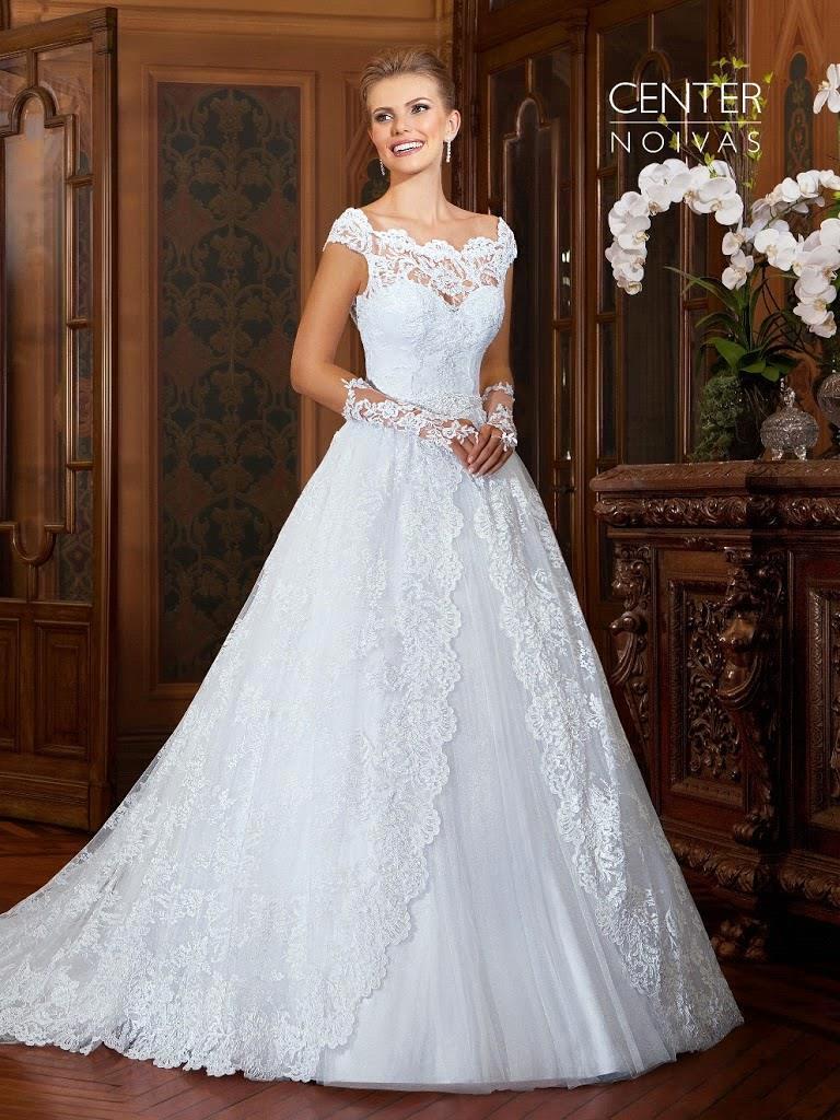 Turmec Cap Sleeve Vintage Lace Wedding Dresses