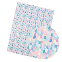 IBOWS 22*30 см блестящая ткань блестящая Русалка печатная тонкая блестящая для DIY сумка обувь аксессуары ткань ручной работы банты для волос мат...(Китай)