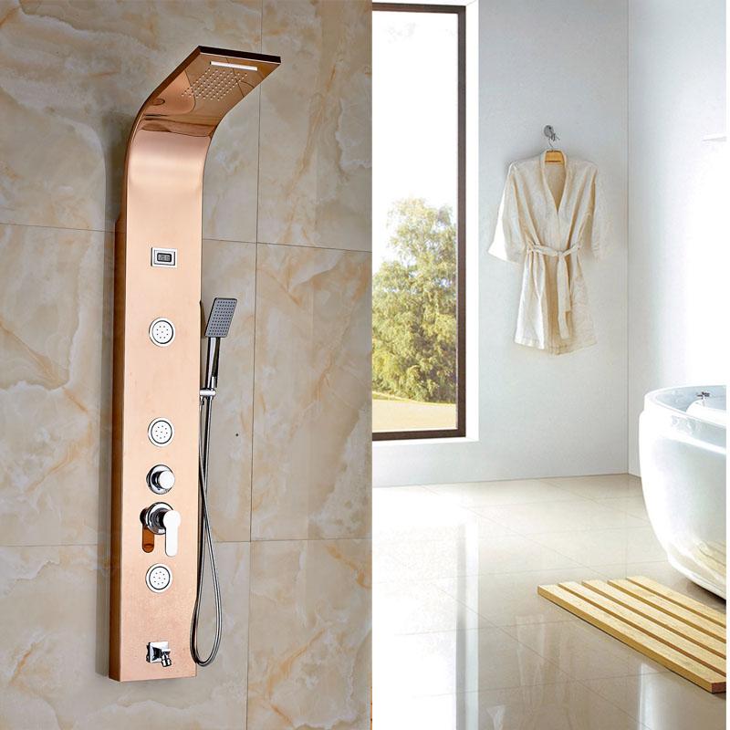 achetez en gros en laiton de douche rose en ligne des grossistes en laiton de douche rose. Black Bedroom Furniture Sets. Home Design Ideas