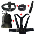5 in 1 GoPro Go Pro Accessories Set Helmet Harness Chest Belt Head Strap for Gopro