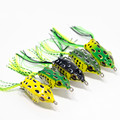 5 5CM 11G Soft Plastic 5 color Fishing lures Frog lure With Hook Top Water Crank