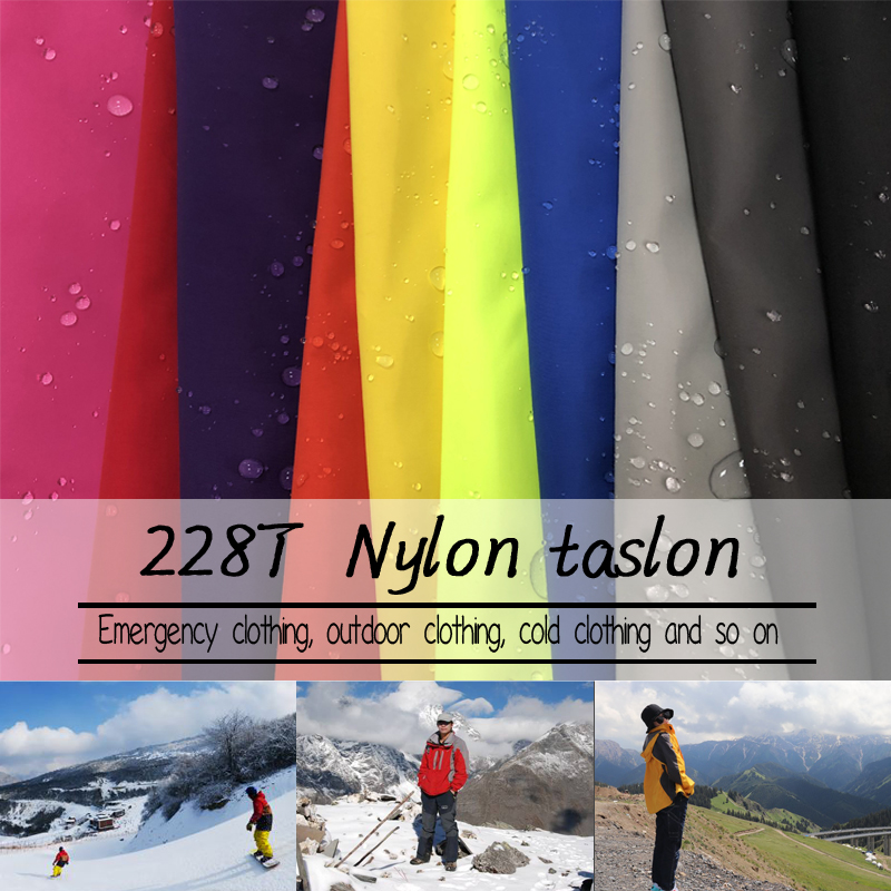 waterproof breathable nylon taslon fabric for ski wear Mountaineering wear jacket fabric