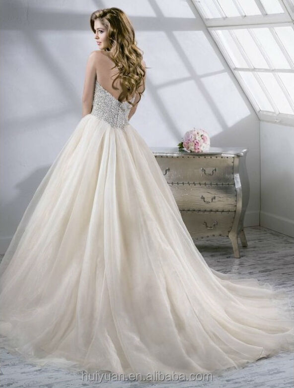 sexy sans manches perles robe de bal couleur champagne robes de mari e robes de mari e id de. Black Bedroom Furniture Sets. Home Design Ideas