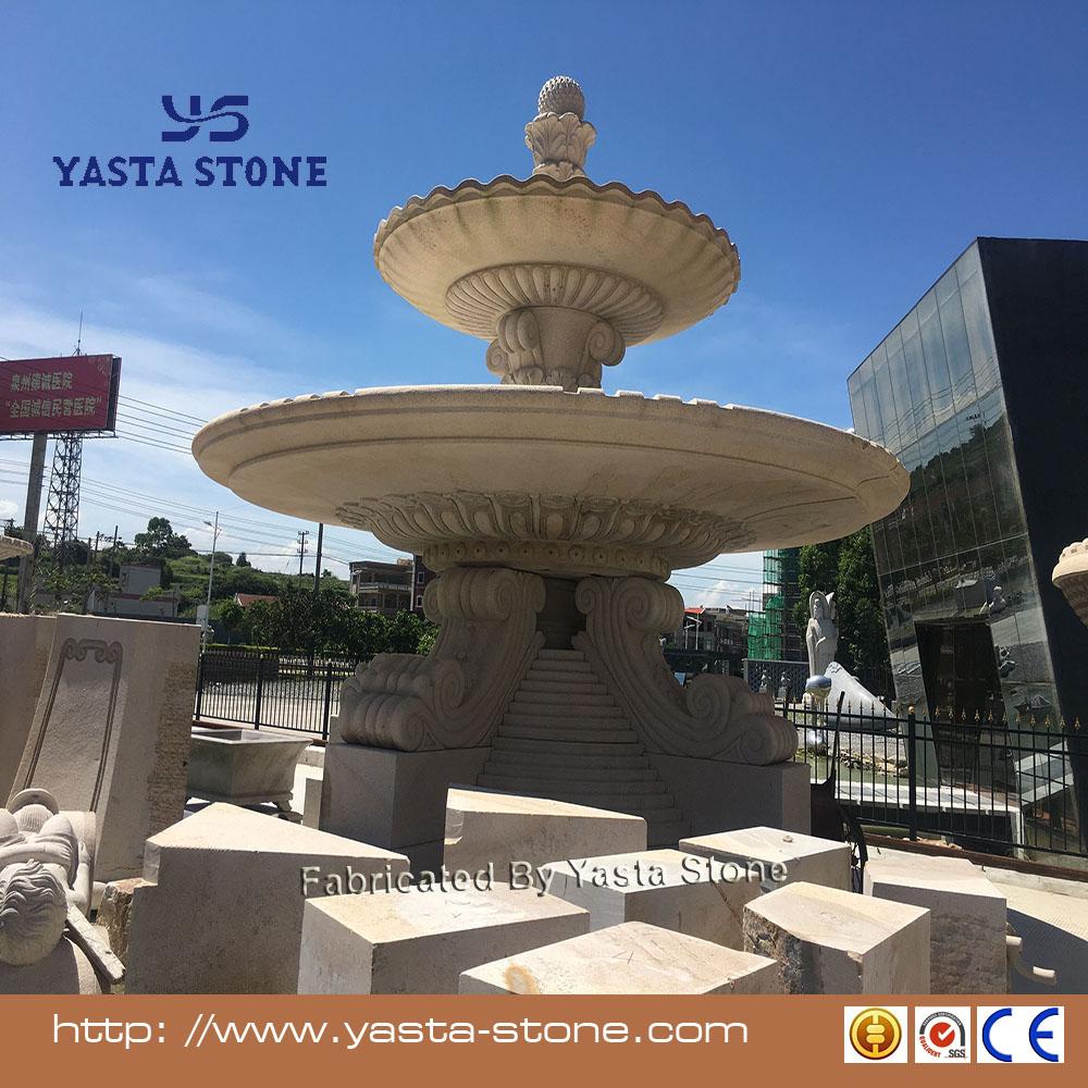 3 яруса кружевных утка фонтан камень парка воды фонтан