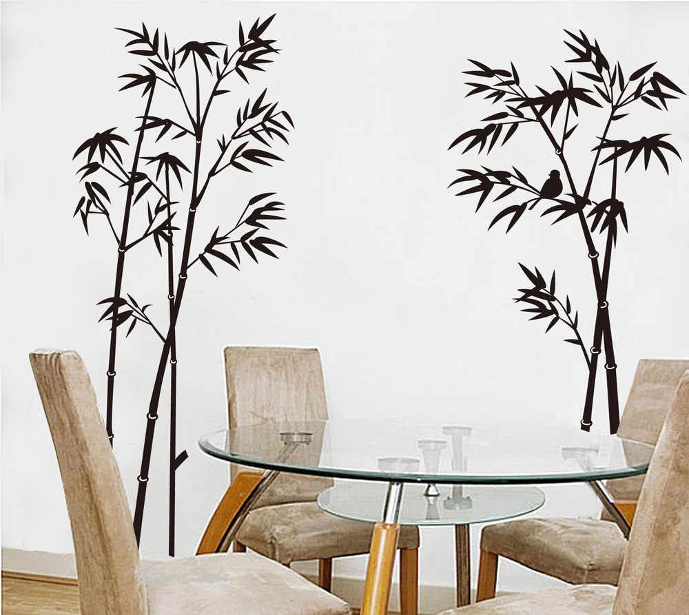 TOP! Bamboo Mural Home Decor Decals Removable Craft Art Wall Stickers USA