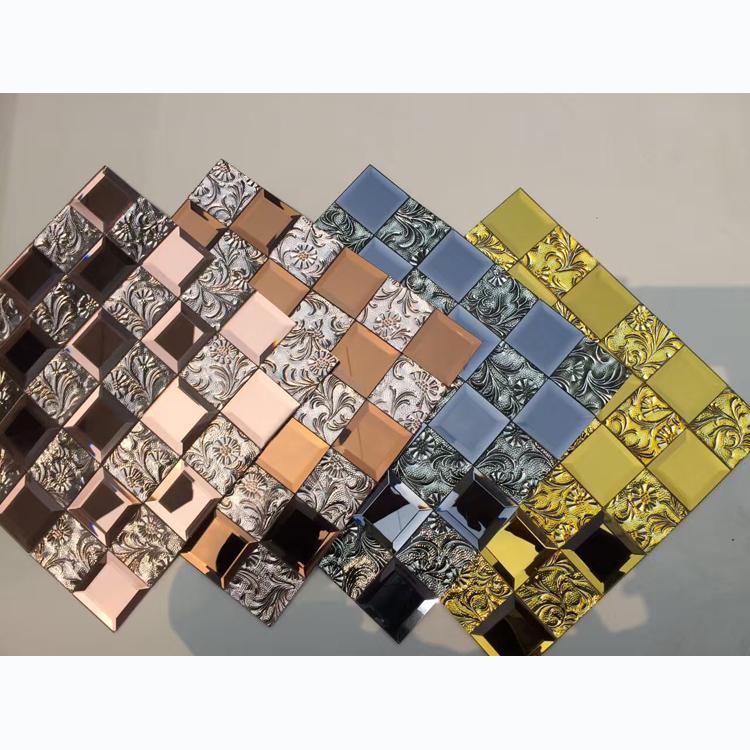 Хрустальная мозаичная стеклянная плитка, зеркальная мозаичная плитка, стеклянная мозаика