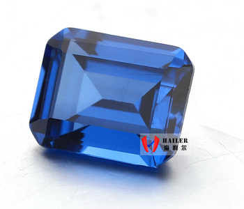 Emerald Cut Dark Blue 119# Spinel Synthetic Gems