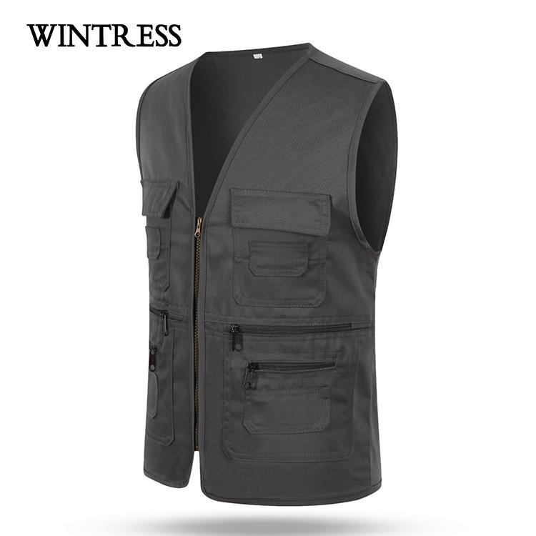 man Sleeveless cheap safety work waistcoat vest fishing vest for men