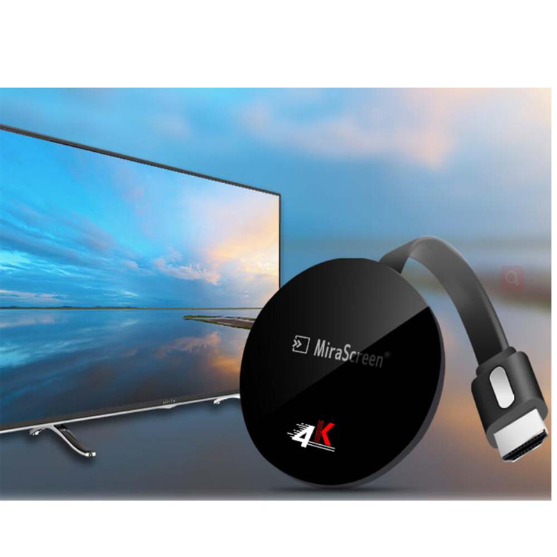 G7 Plus WiFi Display Dongle 5G 4K UHD Mirroring Miracast Airplay DLNA TV  Stick No Need Modes Switching - Black
