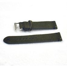 Высокое качество ремешок для часов Ремешок из натуральной замши для мужчин и женщин 18 мм 20 мм 22 мм ремень аксессуары для часов зеленый KZSD07(Китай)