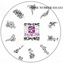2015 S Series S2 Nail Polish DIY Stamping Plates Stainless Steel plate Nail Art Image Stamp