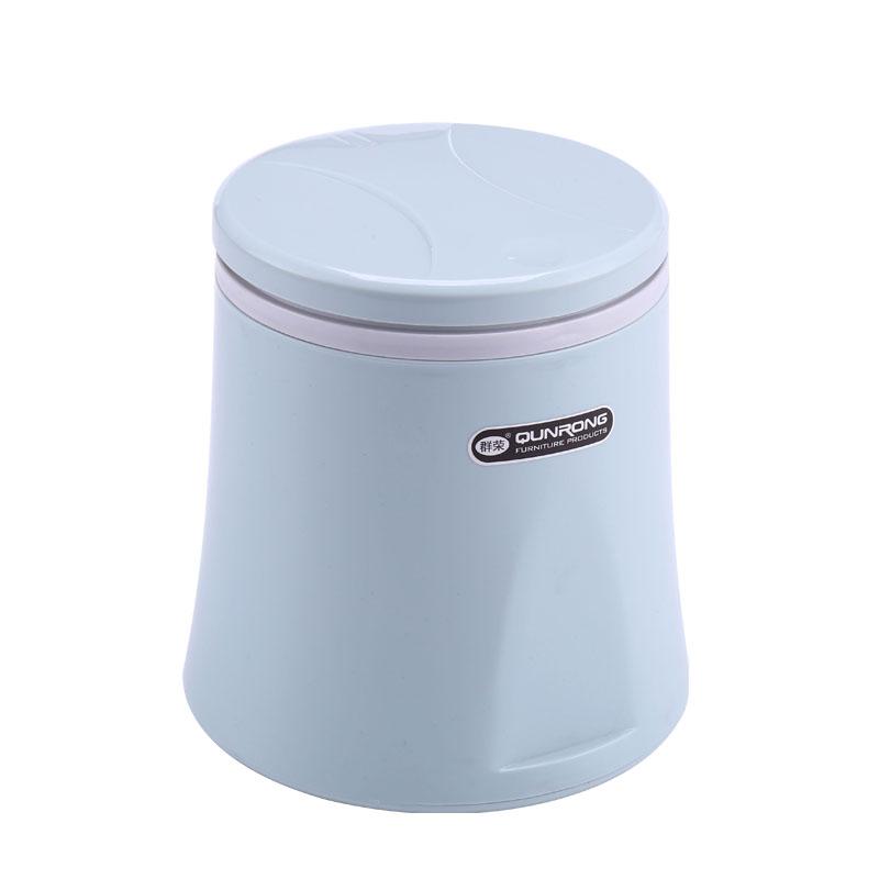 Ручной пресс, круглая крышка, маленькая пластиковая настольная мусорная корзина для офиса