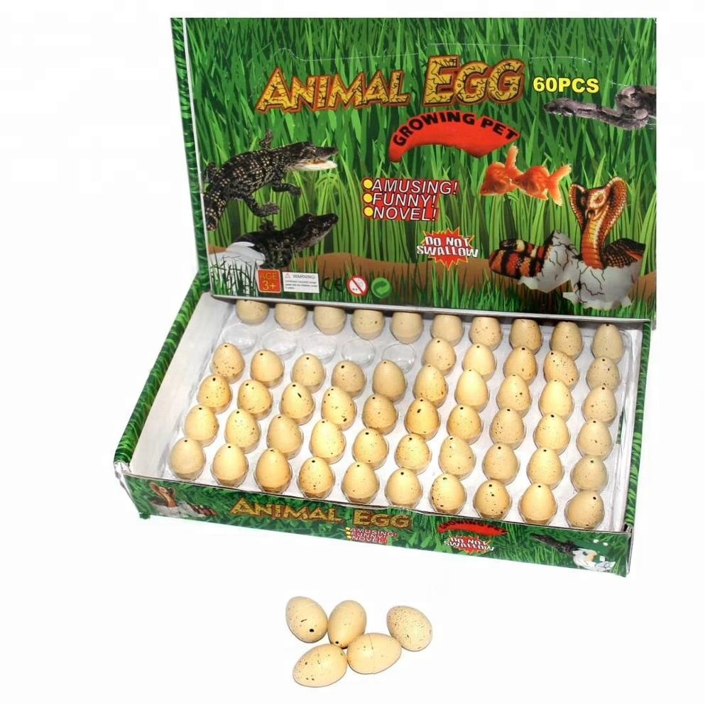 New Creative Design Educational Toys Magic Water Inflation Growing Dinosaur Hatching Egg Expansion Animal hot gift Toys