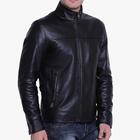 OEM Service Custom Fashion Men Black Solid Leather Jackets
