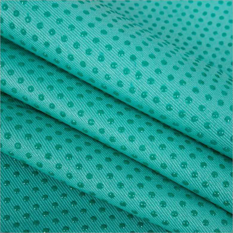 Korea market good quality more colorful pvc dot non slip fabric mattress/ Anti-slip mat silicone non slip fabric
