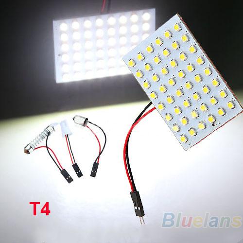 12 / 24 / 36 / 48 из светодиодов 3528 СМД автомобилей световой панели T10 фестона BA9S адаптер 0O8Q