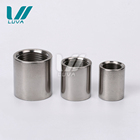 "316 Stainless Steel Stainless Pipe Coupling 304/ 316 Stainless Steel Pipe Fitting 1/2"" BSP Unpolished 150d Female Thread Coupling"