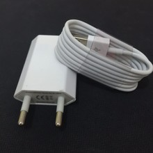 Mobile Phone Chargers Adapter For Apple iPhone 5 5S 6 6s PLUS EU / US Wall charger + 8 Pin USB Data Sync charger Cable