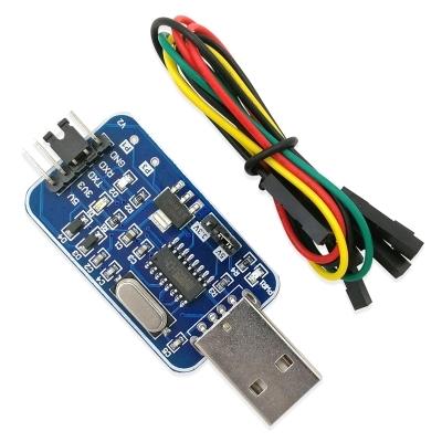 1x USB To TTL CH340G Converter Module Serial Port Nine Small Brush Board New