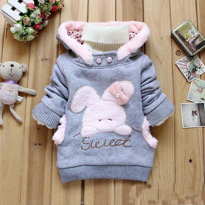 be100fa045b2 2019 Baby Girls Jackets Infant Coats With Bag Newborn Winter Hoodies ...