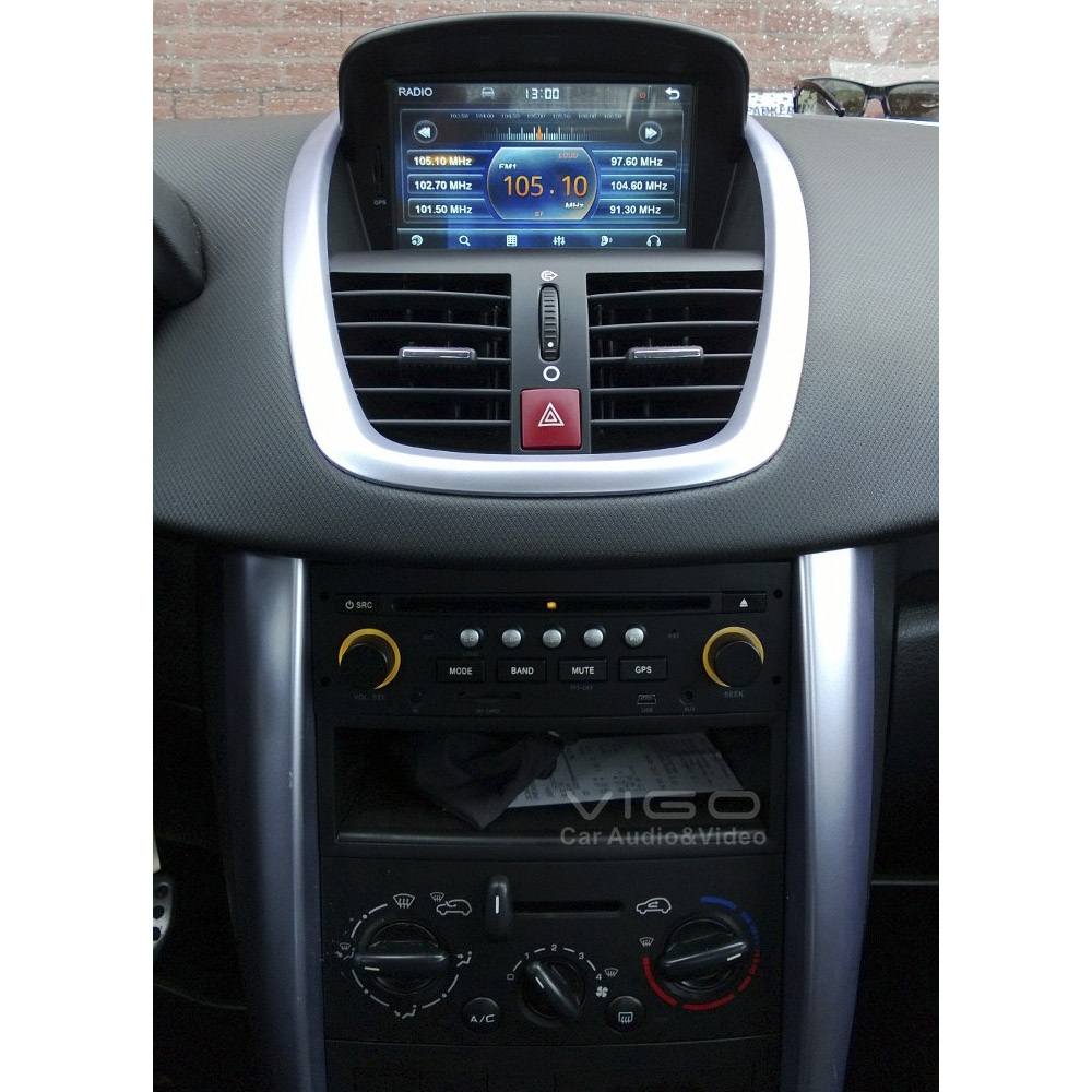 buy car stereo gps navigation for peugeot 207 2006 2011 bluetooth multimedia. Black Bedroom Furniture Sets. Home Design Ideas