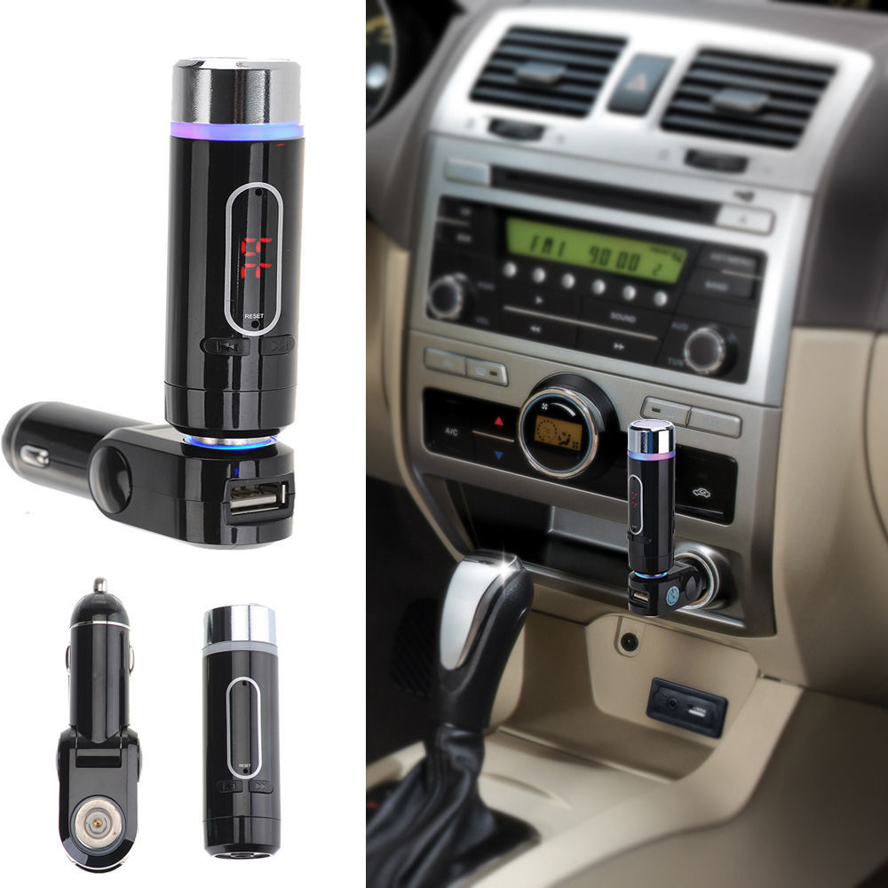 buy a2dp wireless car fm transmitter bluetooth music receiver handsfree calling. Black Bedroom Furniture Sets. Home Design Ideas