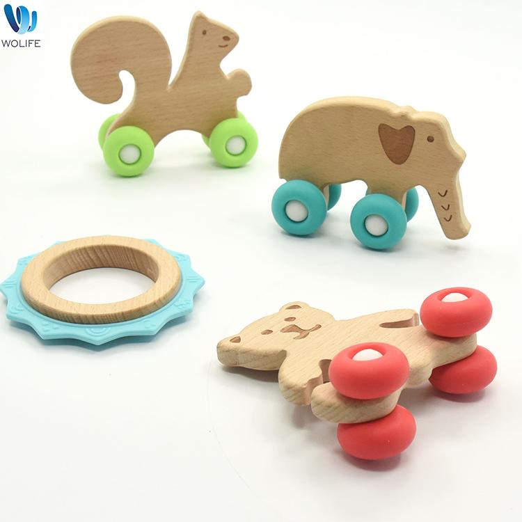 Детский деревянный Прорезыватель для зубов, уникальный дизайн