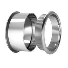 Floya 2 мм ширина заполненное кольцо шестерни аксессуары внутренние кольца Сменные алюминиевый материал для женщин Персонализированные крас...(Китай)