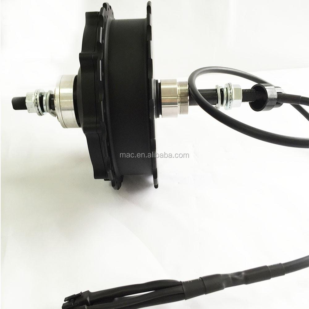 Двигатель ступицы Mac 1 кВт с новыми композитными шестернями с внутренним датчиком крутящего момента