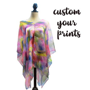 Women Perspective Floral Print Swimsuit Cover Up Dress Multi-Fuction Chiffon shawls,With Low Price