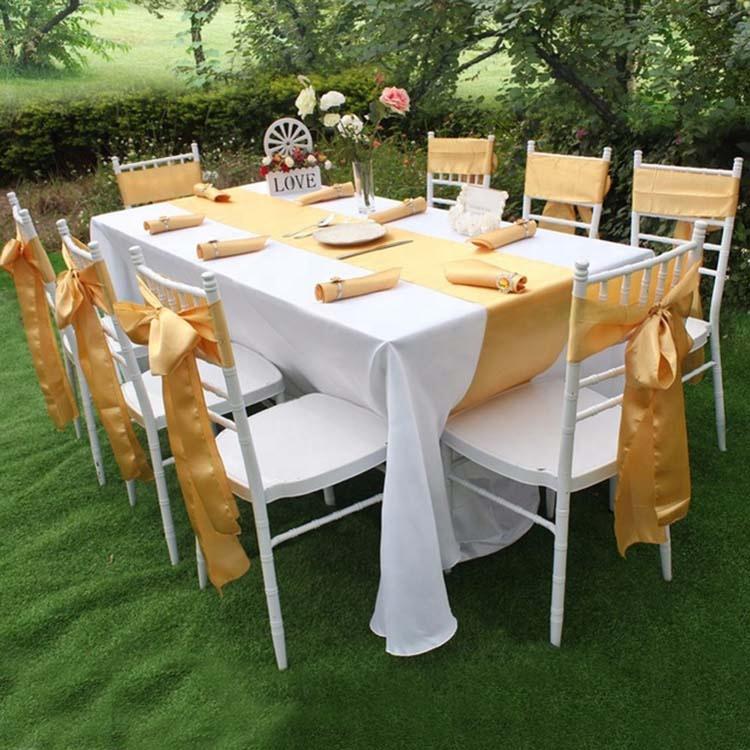 Недорогие королевские розовые золотые бордовые повязки на стулья 15x275 см для банкета вечеринки дома свадьбы атласные повязки на стулья