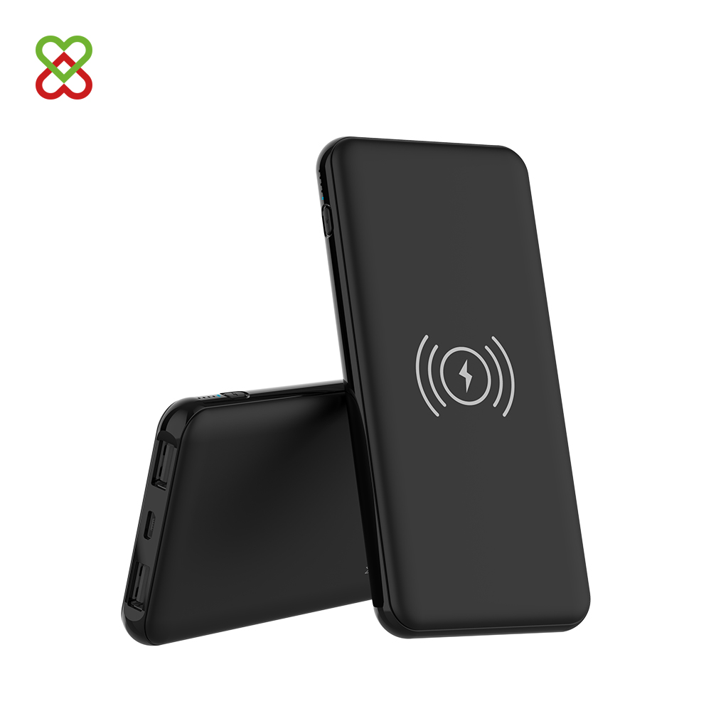 Promotional Wireless Charger Power Bank 8000mAh Portable Powerbank with Dual USB - idealPower | idealPower.net