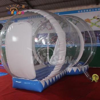 Adult size inflatable snow globe with blowing snow/latex inflatable bondage inflatable snow tube