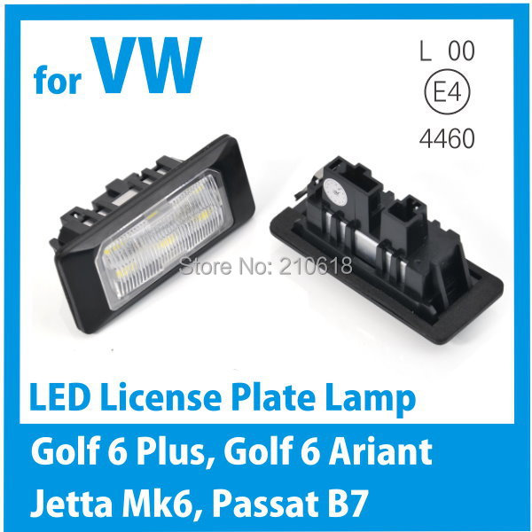 for vw golf 6 plus jetta mk6 passat b7 led license plate light freeshipping in external lights. Black Bedroom Furniture Sets. Home Design Ideas
